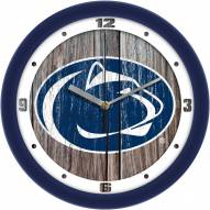 Penn State Nittany Lions Weathered Wood Wall Clock