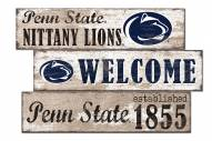 Penn State Nittany Lions Welcome 3 Plank Sign