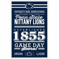 Penn State Nittany Lions Established Wood Sign