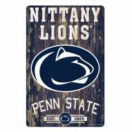 Penn State Nittany Lions Slogan Wood Sign