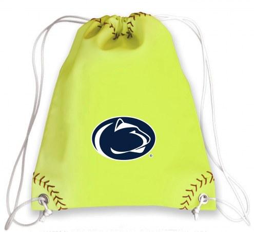 Penn State Nittany Lions Softball Drawstring Bag