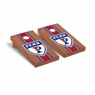 Pennsylvania Quakers Rosewood Stained Stripe Cornhole Game Set