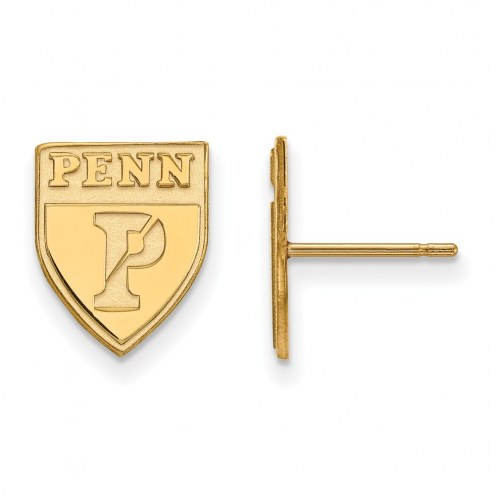 Pennsylvania Quakers Sterling Silver Gold Plated Small Post Earrings