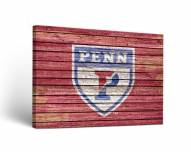 Pennsylvania Quakers Weathered Canvas Wall Art