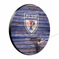 Pennsylvania Quakers Weathered Design Hook & Ring Game