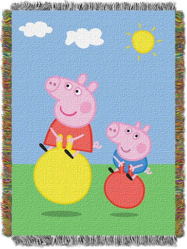 Peppa Pig Bounce Bounce Throw Blanket