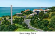 Pepperdine Waves Campus Images Lithograph