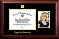 Pepperdine Waves Gold Embossed Diploma Frame with Portrait