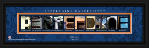 Pepperdine Waves Personalized Campus Letter Art