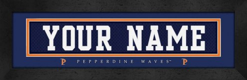 Pepperdine Waves Personalized Stitched Jersey Print