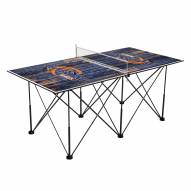 Pepperdine Waves Pop Up 6' Ping Pong Table