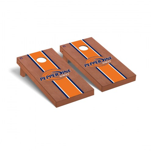 Pepperdine Waves Rosewood Stained Cornhole Game Set