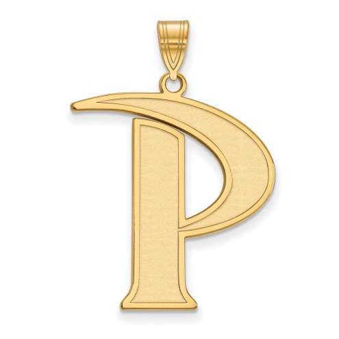 Pepperdine Waves Sterling Silver Gold Plated Extra Large Pendant