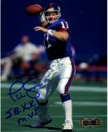 "Phil Simms 4x5 Passing Photo w/ ""SB XXI MVP"""