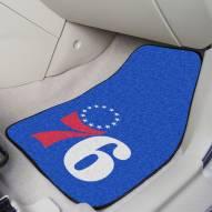 Philadelphia 76ers 2-Piece Carpet Car Mats