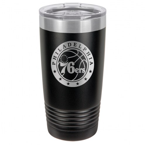 Philadelphia 76ers 20 oz. Black Stainless Steel Polar Tumbler