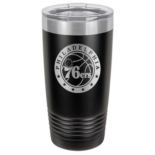 Philadelphia 76ers 20 oz. Black Stainless Steel Polar Tumbler