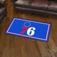 Philadelphia 76ers 3' x 5' Area Rug