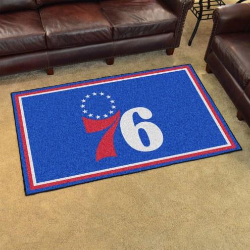 Philadelphia 76ers 4' x 6' Area Rug