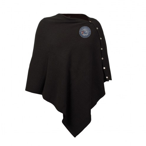 Philadelphia 76ers Black Out Button Poncho