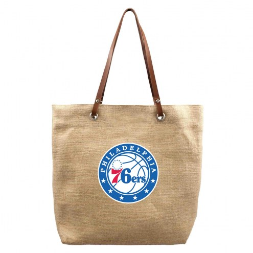 Philadelphia 76ers Burlap Market Tote