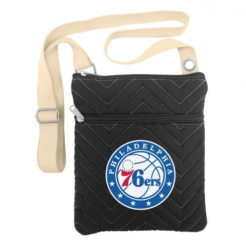 Philadelphia 76ers Chevron Stitch Crossbody Bag