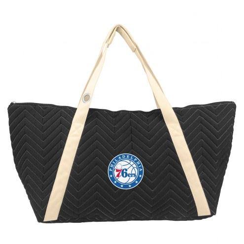 Philadelphia 76ers Chevron Stitch Weekender Bag