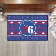 Philadelphia 76ers Christmas Sweater Starter Rug