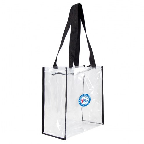 Philadelphia 76ers Clear Square Stadium Tote