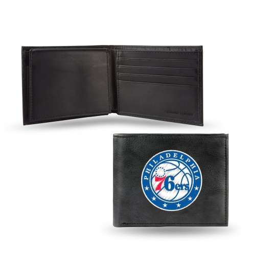 Philadelphia 76ers Embroidered Leather Billfold Wallet