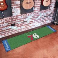 Philadelphia 76ers Golf Putting Green Mat