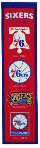 Philadelphia 76ers Heritage Banner