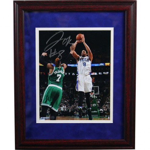 Philadelphia 76ers Jahlil Okafor Signed and Framed 76ers First NBA Game Action 8 x 10 Photo