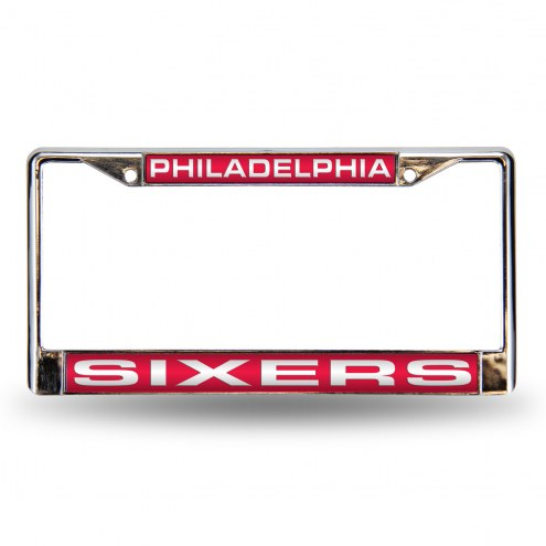 Philadelphia 76ers Laser Chrome License Plate Frame