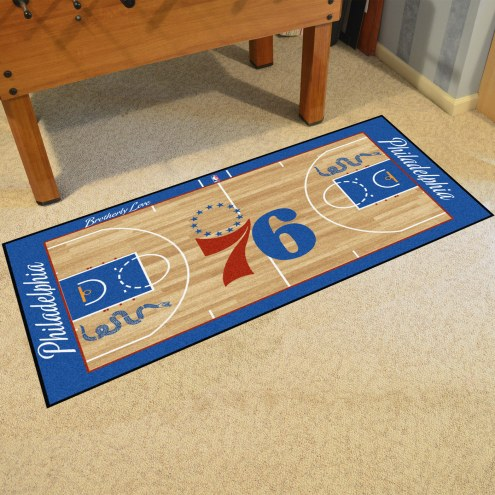 Philadelphia 76ers NBA Court Runner Rug