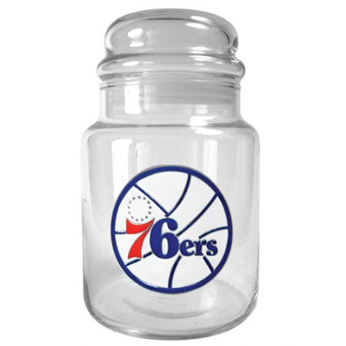Philadelphia 76ers NBA 31 Oz Glass Candy Jar