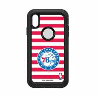Philadelphia 76ers OtterBox iPhone XS Max Defender Stripes Case