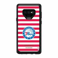 Philadelphia 76ers OtterBox Samsung Galaxy Note9 Symmetry Stripes Case