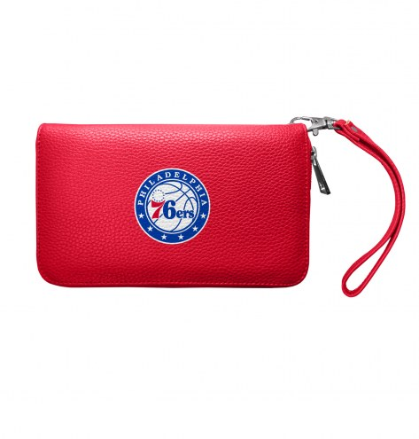 Philadelphia 76ers Pebble Organizer Wallet