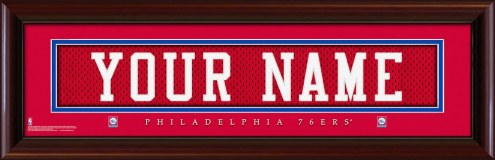 Philadelphia 76ers Personalized Stitched Jersey Print