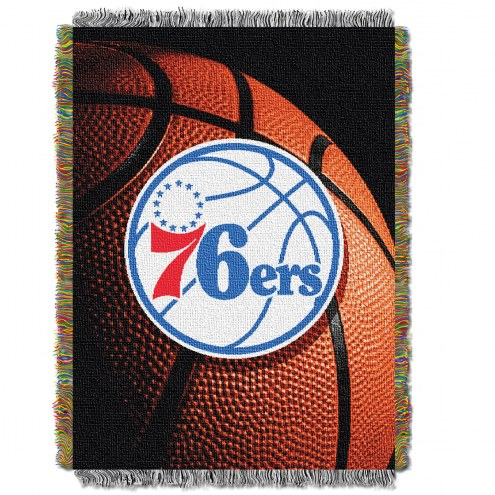 Philadelphia 76ers Photo Real Throw Blanket