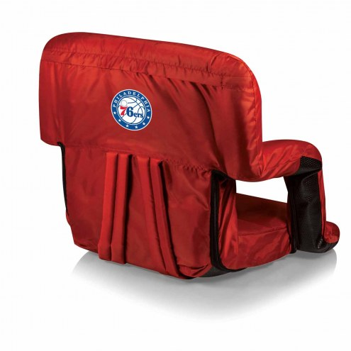 Philadelphia 76ers Red Ventura Portable Outdoor Recliner