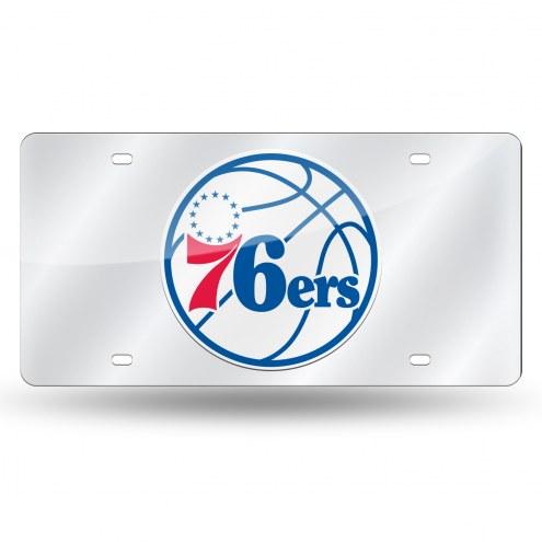 Philadelphia 76ers Laser Cut License Plate