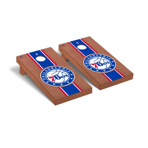 Philadelphia 76ers Rosewood Stained Cornhole Game Set