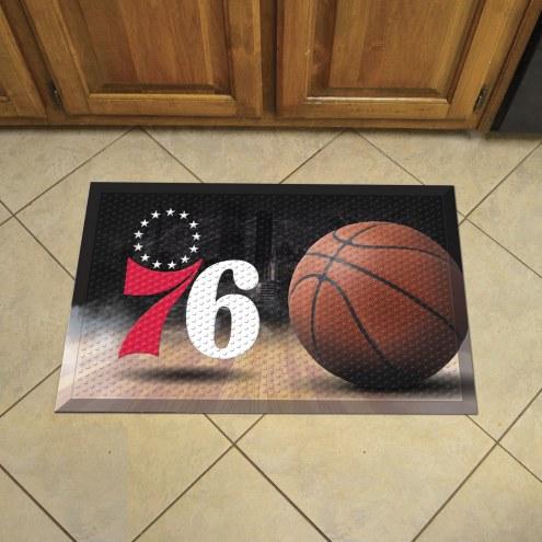 Philadelphia 76ers Scraper Door Mat