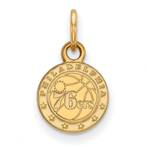 Philadelphia 76ers Sterling Silver Gold Plated Extra Small Pendant