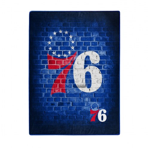 Philadelphia 76ers Street Raschel Throw Blanket