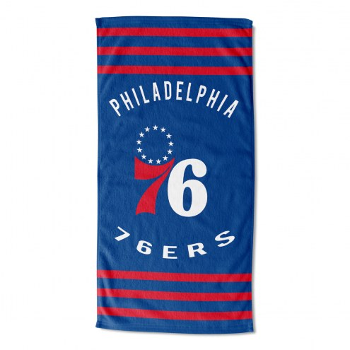 Philadelphia 76ers Stripes Beach Towel