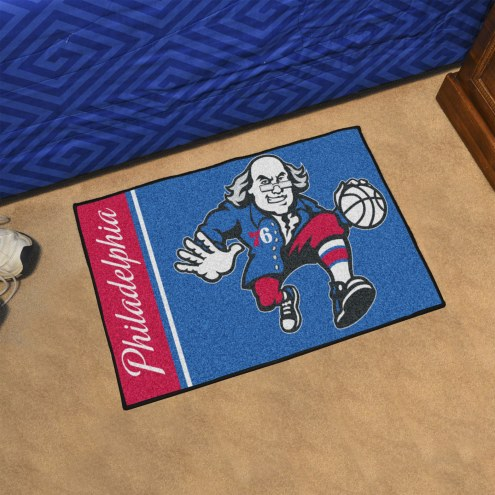 Philadelphia 76ers Uniform Inspired Starter Rug