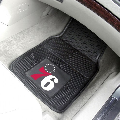 Philadelphia 76ers Vinyl 2-Piece Car Floor Mats